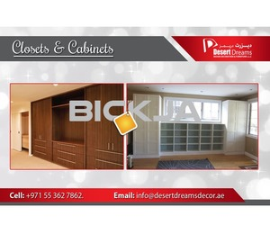 Design and Build Wooden Cabinets in Uae | Creative Closets and Wardrobes | Walk in Closets Dubai.