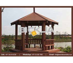 Wooden Roof Gazebo Dubai | Outdoor Gazebo | Wooden Gazebo Contractor in Uae.
