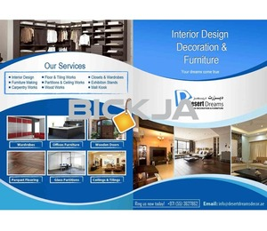 Interior Design, Decor, Partitions, Joinery Works in Uae.