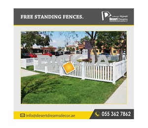 Wooden Fences in Dubai | Picket Fences | Fences Contractor in Uae | Kids Play Area Fences Uae.
