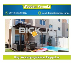 Swimming Pool Area Pergola Uae | Wooden Shades | Pergola Suppliers UAE.