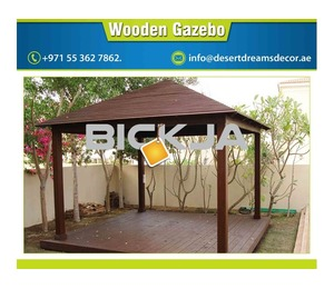 Dubai Wooden Gazebo Contractor | Wooden Gazebo Suppliers | Seating Area Gazebo Uae.
