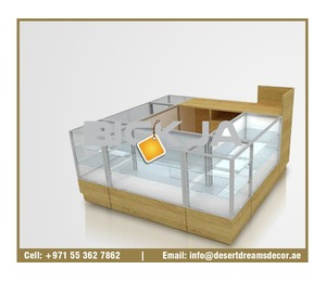 Wooden Display Counters Uae | Mall Kiosk | Cell Phones Kiosk | Kiosk Manufacturer UAE.