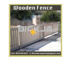 Al Farah Carpentry Wooden fence Suppliers Dubai | Garden fence | Picket fence Abu Dhabi