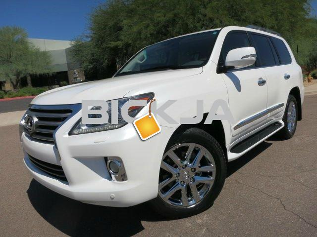 BUY 2013 LEXUS LX 570 WHITE - 3/4