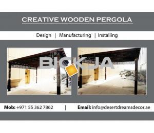 Garden Pergola Dubai | Wooden Structures Uae | Wooden Pergola Contractor in Uae.