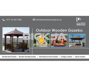 Wooden Gazebo in Uae | Outdoor Gazebo | Design and Manufacturer Gazebo Uae.
