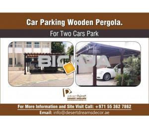 Unique Wooden Structures for Car Parking Area | Car parking Pergola Dubai.