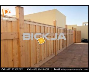 Privacy Wooden Fences Dubai | White Picket Fences | Wooden Fences Contractor in Uae.
