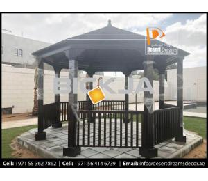 Wooden Gazebo Dubai | Seating Area Gazebo in Uae | Gazebo Contractor in Uae.