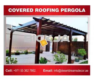 Car Parking Wooden Pergolas Uae | Parking Area Wooden Structures Uae.