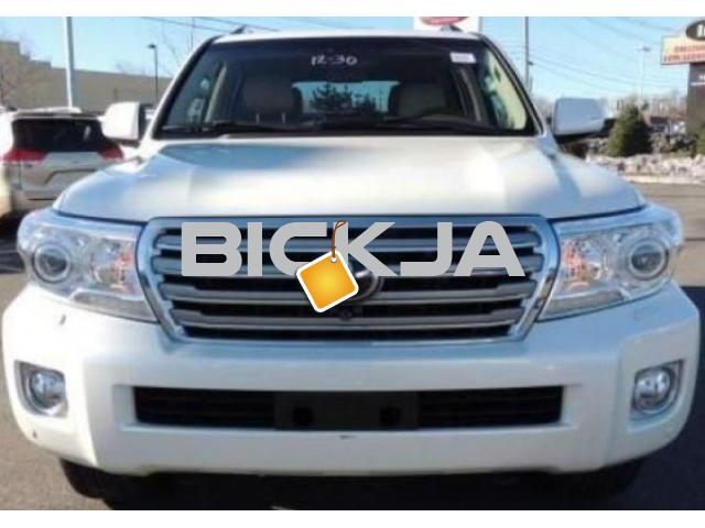 TOYOTA LAND CRUISER 2014 WHITE 4WD JEEP - 1/4