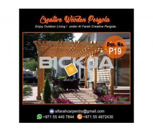 Balcony Attached attached pergola Abu Dhabi | Dubai Pergola Design | Wooden pergola