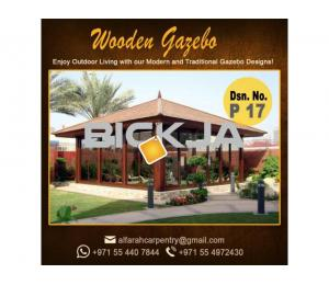 Stone Roof Gazebo Abu Dhabi , Wooden Roof Gazebo , Gazebo Suppliers Dubai