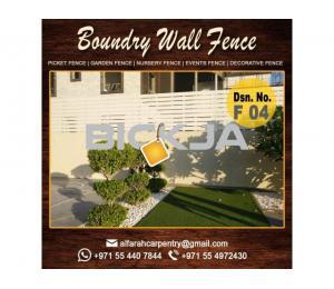 Picket Fence In Dubai | Garden Fences And Pergola | Fence And Trellis | Wooden Fence Abu Dhabi