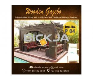 Hexagonal Shape Gazebo | Octagonal Shape Gazebo | Wooden Gazebo Abu Dhabi