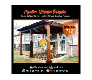 Wooden pergola Contractor Dubai | Pergola Suppliers | Garden pergola Dubai