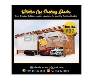 Wooden Parking Shades   Wooden Walkway Shades   Car Parking Pergola Dubai
