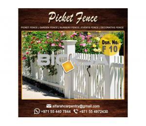 Wooden Fence Dubai | Garden fence | Picket Fence Abu Dhabi