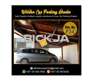 Car Parking Shades Dubai | Car Parking Wooden Pergola