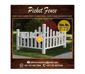 Wooden Picket Fence Dubai | Garden Trellis And Fence | Privacy Wooden Fence Abu Dhabi
