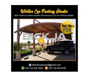 Car Parking Shade Dubai | Wooden Pergola Shades | Wooden Car Parking Shade Abu Dhabi