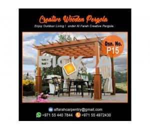 Wooden Pergola Suppliers | Pergola Design in Dubai | Wooden pergola in UAE